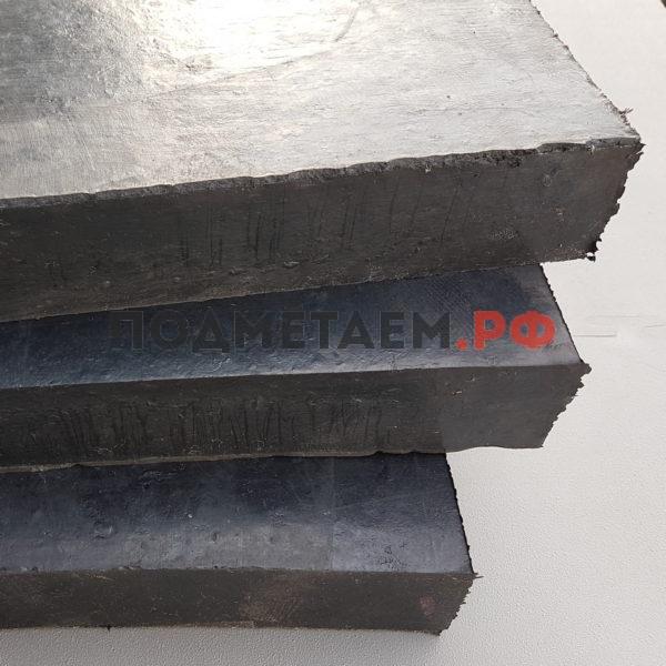 Техпластина 1000x250x40 (арм. тросом, 2 ряда по 30шт)