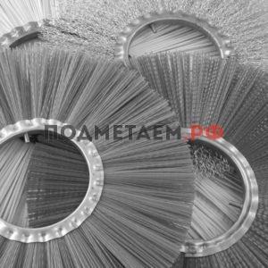 Диск щеточный 220x900 (металлический, беспроставочный, гнутый)